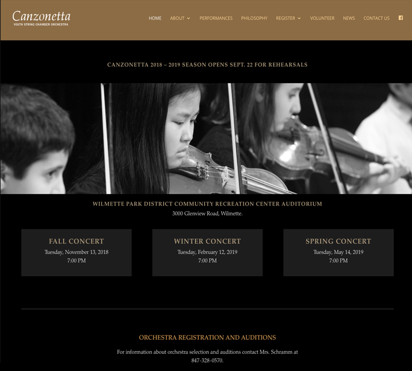 Canzonetta Young String Chamber Orchestra